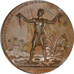Great Britain. 1834 Extinction of Colonial Slavery. BHM-1665. Bronzed. Plain Edge. SP-64 PCGS.