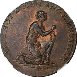 Great Britain. Conder Token. Halfpenny. Circa 1793 Am I Not A Man and A Brother. Middlesex. D&H-1038
