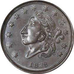 Hard Times Token. 1838 Loco Foco / Mint Drop. HT-63. MS-62 BN NGC