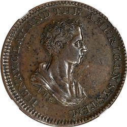 Undated (1840) Henry Clay. HT-79, Low-192. Copper. Plain Edge. Rarity-2. AU-55 BN NGC.