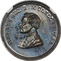 Patriotic. Undated (1864) George B. McClellan. F-142/347f. Silver. Plain Edge. Rarity-8. MS-67 * NGC
