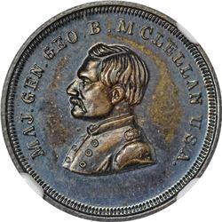 Patriotic. Undated (1864) George B. McClellan. F-142/348f. Silver. Plain Edge. Rarity-8. MS-66 PL NG