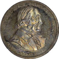 New York. New York City. 1860. John K. Curtis. Miller-NY-82M. Silver. Reeded Edge. MS-63 NGC.