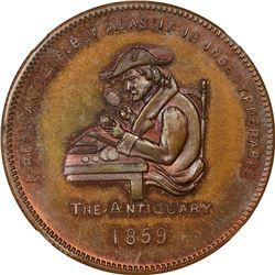 New York. New York City. Undated (1861). John K. Curtis. Miller-NY-189. Copper. Plain Edge. MS-65 BN