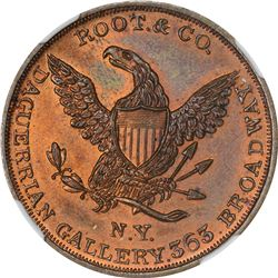 New York. New York City. Undated (1850s). Root & Co. Miller-NY-731. Copper. Plain Edge. MS-66 RB NGC