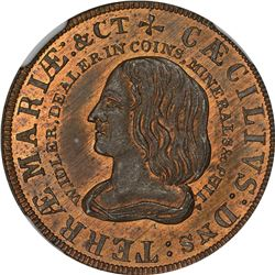 Pennsylvania. Philadelphia. Undated (1860). William Idler, Dealer In Coins. Miller Pa-222A. Copper.