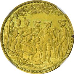 Pennsylvania. Philadelphia. 1882. Lingg & Bro., Penn Treaty Bi-Centennial. Rulau-PA-PH-A255. Brass.