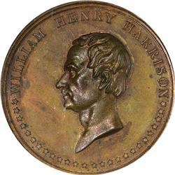 1840 Campaign. William Henry Harrison. Bunker Hill. DeWitt-WHH-1840-4. Copper. Plain Edge. MS-65 BN
