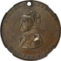 Undated (1840) Campaign. William Henry Harrison. Tippecanoe. DeWitt-WHH-1840-27. Copper. Plain Edge.