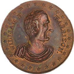 Undated (1840) Political. William H. Harrison. DeWitt-WHH-D. Copper. Plain Edge. MS-65 RB NGC.