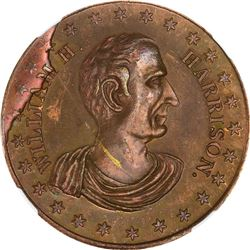 Undated (1840) Political. William H. Harrison. DeWitt-WHH-D. Copper. Plain Edge. MS-64 BN NGC.
