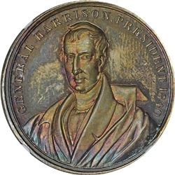 1840 Political. William H. Harrison. DeWitt-WHH-H. Silver. Plain Edge. MS-65 NGC.