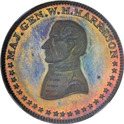 Undated (1840) Political. Major General William Henry Harrison. DeWitt-WHH-K. Silver. Plain Edge. MS