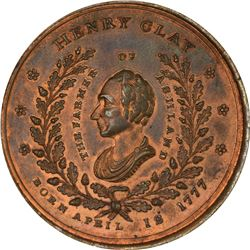 Undated (1844) Campaign. Henry Clay-William H. Harrison. DeWitt-HC-1844-11. Copper. Plain Edge. MS-6