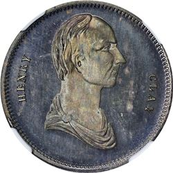Undated (1844) Campaign. Henry Clay-William Henry Harrison. DeWitt-HC-A (2). Silver. Plain Edge. MS-