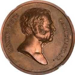 Undated (1848) Campaign. Zachary Taylor. DeWitt-ZT-1848-12. Bronze. Plain Edge. MS-67 RB NGC.