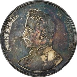 Undated (1852) Campaign. General F. Pierce. DeWitt-FP-1852-1. Silver. Plain Edge. MS-65 NGC.