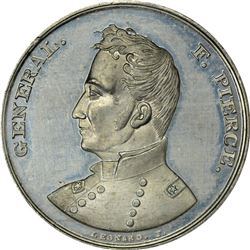Undated (1852) Campaign. General F. Pierce. DeWitt-FP-1852-1. Silver. Plain Edge. MS-62 PCGS.