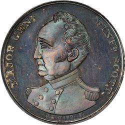 Undated (1852) Campaign. Major General Winfield Scott. DeWitt-WS-1852-1. Silver. Plain Edge. MS-66 N