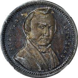 1860 Campaign. Stephen A. Douglas. DeWitt-SD-1860-22. Silver. Plain Edge. MS-63 PL NGC.
