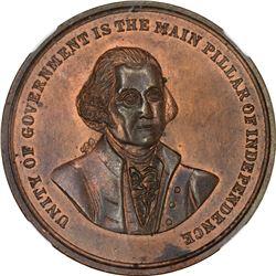 Undated (1861) George Washington-William Henry Harrison. Hero of Tippecanoe. Baker-379A, DeWitt WHH-