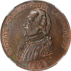 """""""1789"""" (circa 1863) Robinson's Fantasy Washington President. Baker-14, Musante GW-16, Kenney-7. Copp"""
