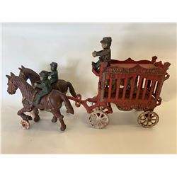 19th-Century Cast Metal Circus Wagon.