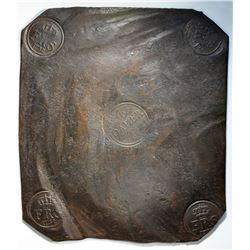 One of the Finest 4 Daler Swedish Plate Money