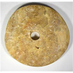 Discus Size 4.925 Pound Yap Stone