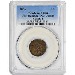 1886 1C AU DETAILS PCGS