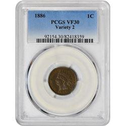1886 1C VF30 PCGS