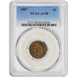1887 1C AU58 PCGS