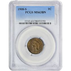 1908-S 1C MS63BN PCGS