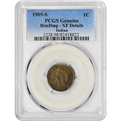 1909-S 1C XF DETAILS PCGS