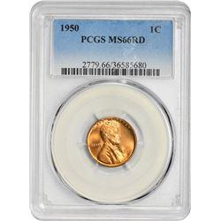 1950 1C MS66RD PCGS