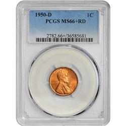 1950-D 1C MS66RED PCGS