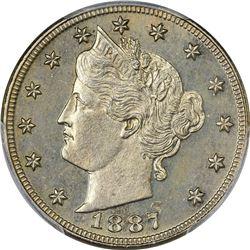 1887 5C UNC DETAILS PCGS