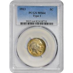 1913 5C MS64 TYPE 1 PCGS
