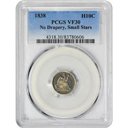 1838 H10C VF30 PCGS