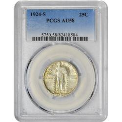 1924-S 25C AU58 PCGS