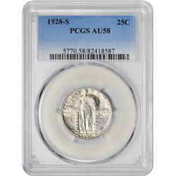 1928-S 25C AU58 PCGS