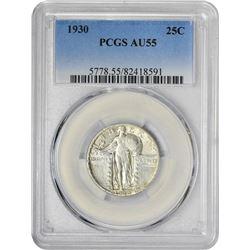 1930 25C AU55 PCGS