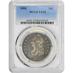 1808 50C VF25 PCGS