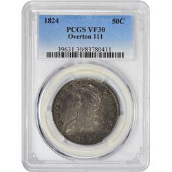 1824 50C VF30 PCGS