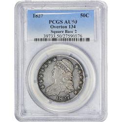 1827 50C AU50 PCGS
