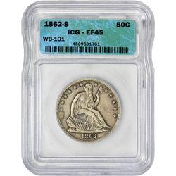 1862-S 50C EF45 ICG