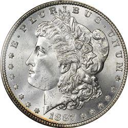 1887 S$1 MS66, 63 NGC, PCGS