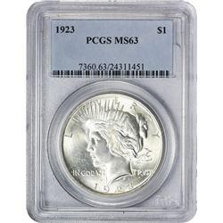 1923 P$1 MS63 PCGS