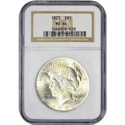 1923 P$1 MS64 NGC