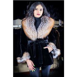 Alaska Fur Mink Belted Jacket